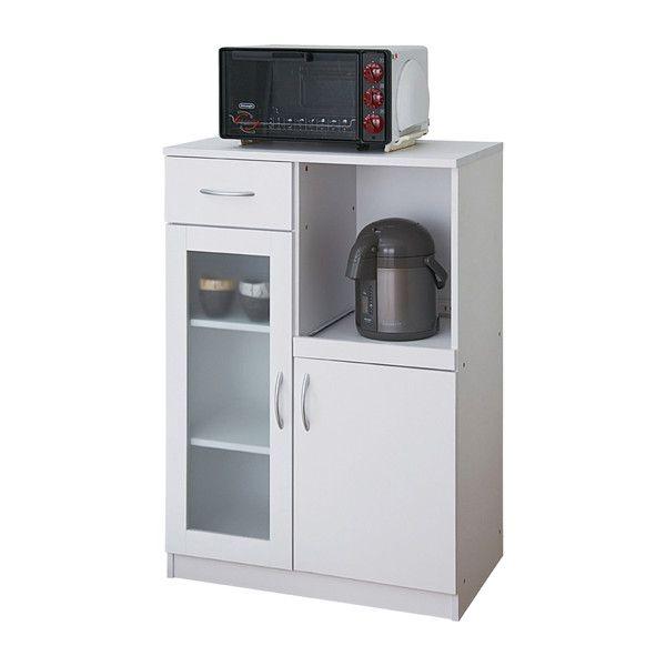 食器棚 ビアンコ 9765 キャビネット レンジ台 キッチン 収納 キッチンキャビネット(代引不可)【送料無料】