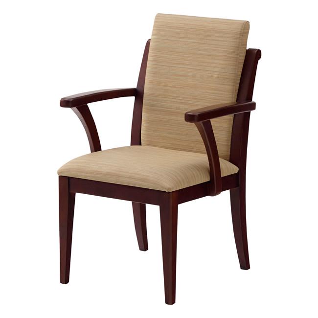 木製チェア 肘付木製チェア オースティン チョコブラウンフレーム 22色選べる 椅子 チェア 肘付き(代引不可)【送料無料】