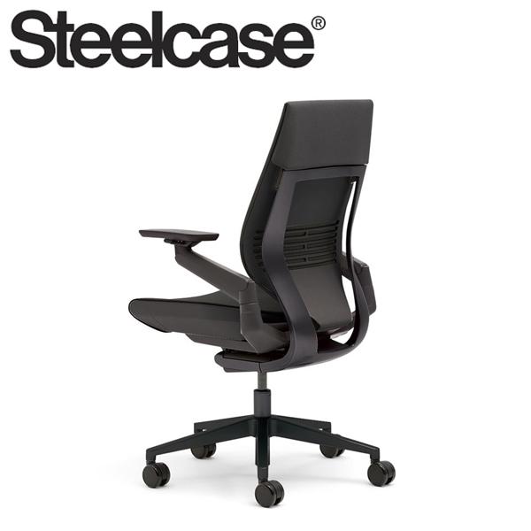 【Steelcase】 スチールケース ジェスチャーチェア ラップバック ブラック/ブラック リコリス 5S26 デスクチェア(代引不可)【送料無料】