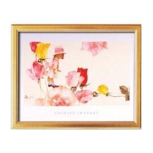 115153 いわさきちひろポスター額(金) 花と少女【送料無料】【int_d11】