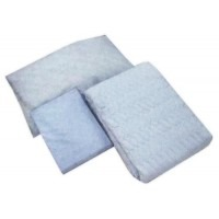 宇都宮製作 お得な寝具3点セットA(ベッドパッド&ボックス型シーツ&枕カバー/各1枚ずつ)ブルー 6139-1750 85cm【送料無料】
