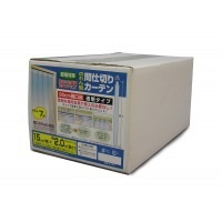 のれん型間仕切りカーテン 透明(0.8mm厚) 7枚 B-351【送料無料】