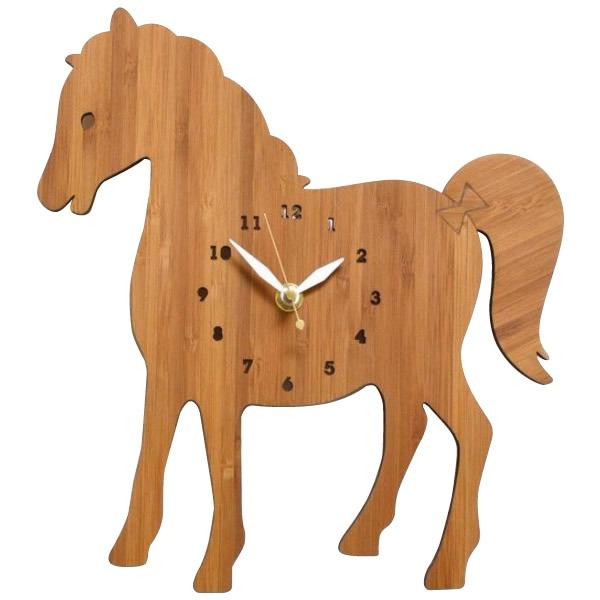 Made in America DECOYLAB(デコイラボ) 掛け時計 HORSE うま【送料無料】