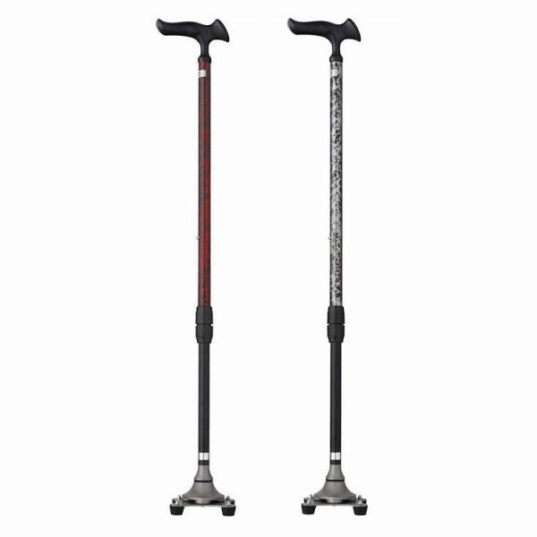 (非課税) フジホーム 杖 かるがも4ポイントステッキ バースアイレッド・WB3827(代引き不可)