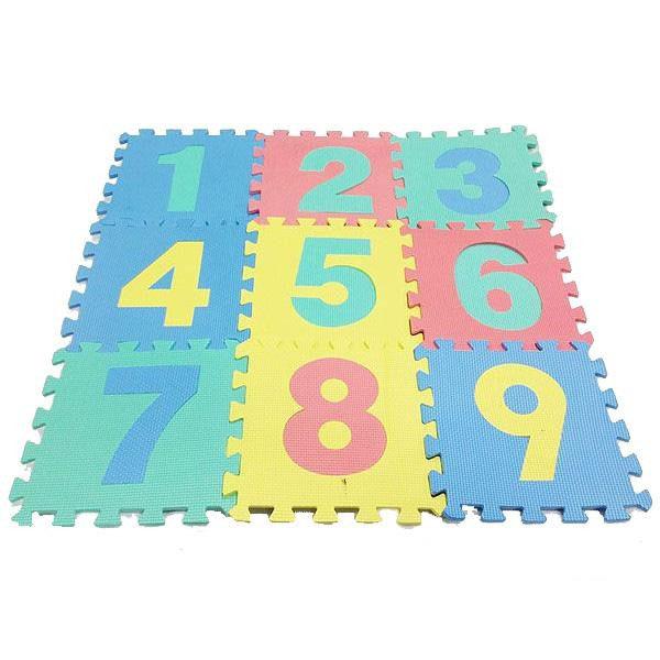 ジョイントマット ファニーパズルマット 数字 324枚(9種×36セット) WJ-638(き)【ポイント10倍】