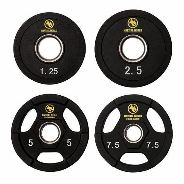 ポリウレタンオリンピックバーベルセット 60kg UB60(代引き不可)【送料無料】