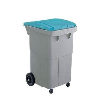 三甲 サンコー サンクリーンボックス SCB-Pシリーズ 4輪キャスター付き大型ごみ箱 SCB200P フタ:ブルー 620000-02(代引き不可)【送料無料】
