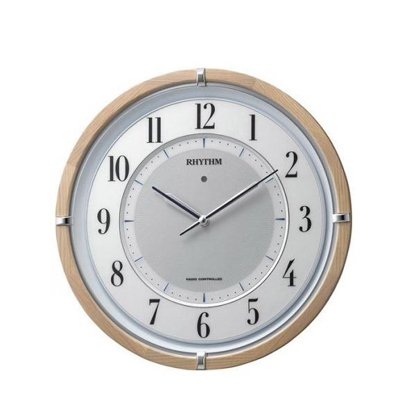 リズム時計 サイレントソーラー M848 06薄茶半艶仕上(白) 4MY848SR06【送料無料】