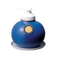 サラヤ ウォシュボン陶器製容器 MF-1 ポンプ付 1L×6本 マリンブルー(代引き不可)【送料無料】【S1】