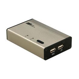ラトックシステム USB接続DVI/Audio対応(PC 2台用) REX-230UDA CPU切替器(KVM)(代引き不可)