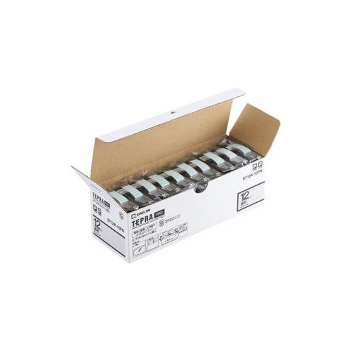 キングジム ST12K-10PN テプラPROテープ エコパック 透明 黒文字 12mm幅 8m 10個入 ST12K-10PN パソコン(代引不可)【送料無料】
