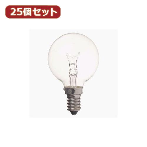 YAZAWA 【25個セット】 ベビーボール球10WクリアE14 G501410CX25 家電 照明器具 照明器具【送料無料】