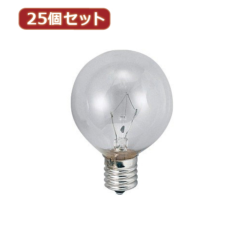YAZAWA 【25個セット】 ベビーボール球10WクリアE26 G602610CX25 家電 照明器具 照明器具【送料無料】
