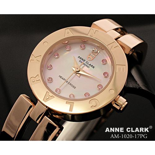 ANNE CLARK ハート&クロス レディースウォッチ AM1020-17PG【送料無料】