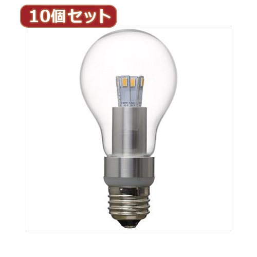 YAZAWA 【10個セット】 調光対応一般電球形LEDランプ LDA5LGDX10【送料無料】