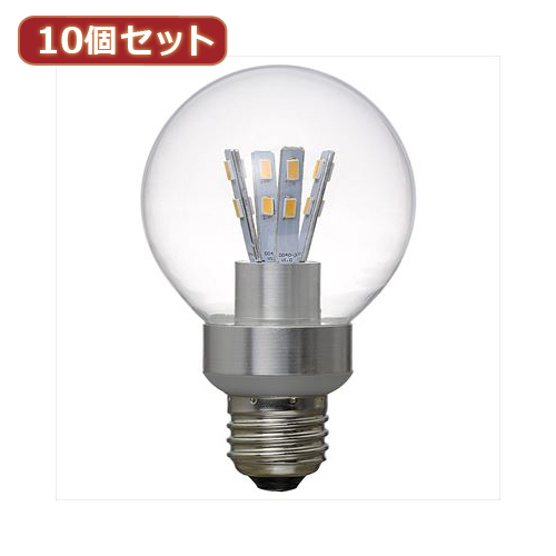 YAZAWA 【10個セット】 G70ボール形LED電球5W電球色 LDG5LG70X10【送料無料】