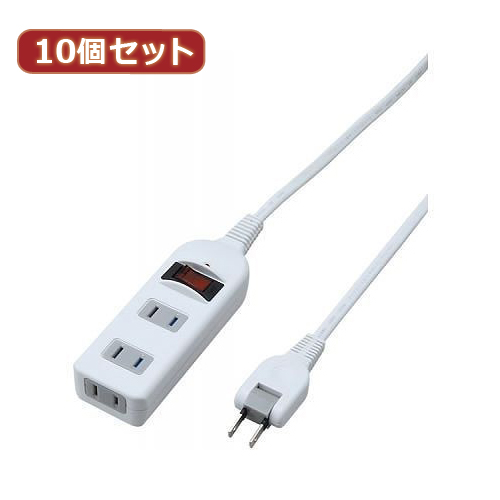 YAZAWA 【10個セット】 ノイズフィルター集中スイッチ付タップ Y02BKNS313WHX10