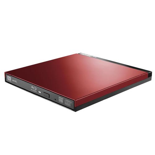 エレコム Blu-rayディスクドライブ/USB3.0/スリム/書込みソフト付/レッド LBD-PUD6U3LRD