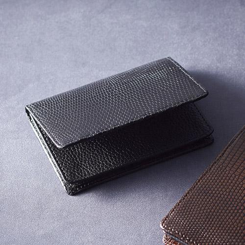 リザード名刺入れ ブラック 雑貨 ホビー インテリア 雑貨 雑貨品【送料無料】【int_d11】