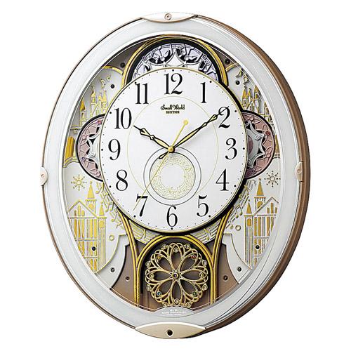 からくり電波時計 スモールワールドノエルN 雑貨 ホビー インテリア インテリア 時計【送料無料】