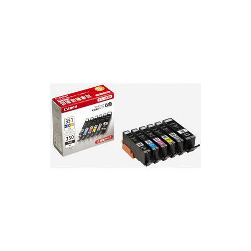 Canon BCI-351XL+350XL/6MP 【純正】インクタンク 大容量 6色マルチパック BCI351XL+350XL6MP(代引不可)