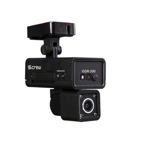 INBYTE 車内撮影2カメラ式ドライブレコーダー S-CREW ISDR-200 ISDR-200 カメラ(代引不可)【送料無料】