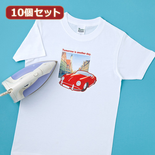 【10個セット】サンワサプライ インクジェット用アイロンプリント紙(白布用) JP-TPR7X10 JP-TPR7X10 パソコン(代引不可)【送料無料】【int_d11】