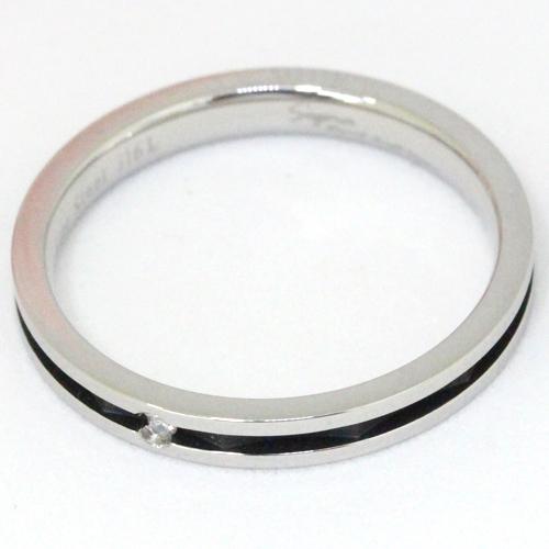 Pure 金属アレルギー対応 ノンアレルギー ステンレス316L ダイヤモンド ペア リング PMS-022-17(代引不可)【送料無料】