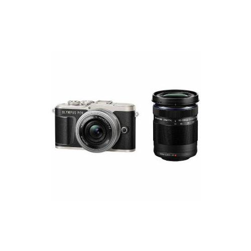 OLYmPUS デジタル一眼カメラ「OLYmPUS PEN E-PL9」EZダブルズームキット ブラック PEN-E-PL9-EZ(代引不可)【送料無料】