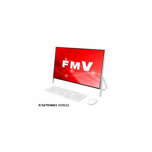 富士通 デスクトップパソコン FmV ESPRImO FH70/C2 ホワイト FmVF70C2W(代引不可)【送料無料】
