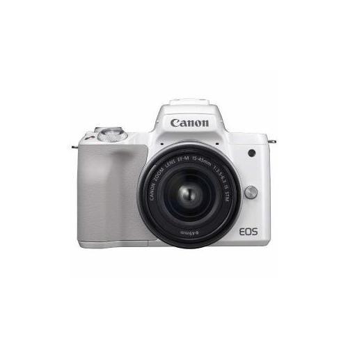 CANON ミラーレス一眼カメラ 「EOS Kiss m」 EF-m15-45 IS STm レンズキット (ホワイト) EOSKISSmWH-1545ISSTm(代引不可)【送料無料】
