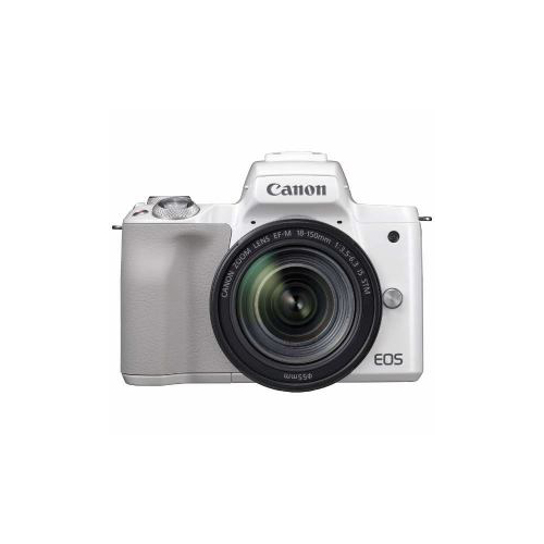 CANON ミラーレス一眼カメラ 「EOS Kiss m」 EF-m18-150 IS STm レンズキット (ホワイト) EOSKISSmWH-18150ISST(代引不可)【送料無料】