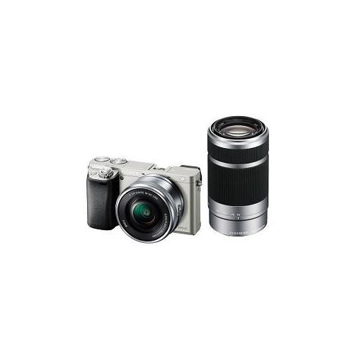 SONY デジタル一眼カメラ α6000 ダブルズームレンズキット (シルバー) ILCE-6000Y-S(代引不可)【送料無料】