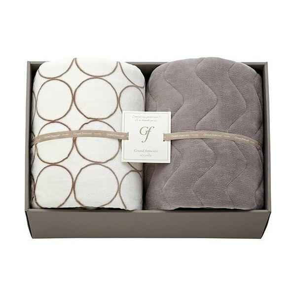 ハイソフトタッチマイヤー毛布&吸湿発熱綿入り敷パット L3196546(代引不可)
