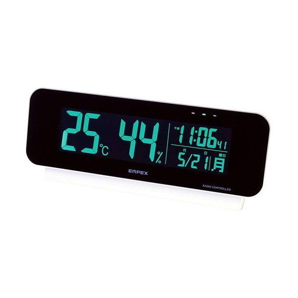 電波時計付デジタル温・湿度計 C9059624(代引不可)【送料無料】