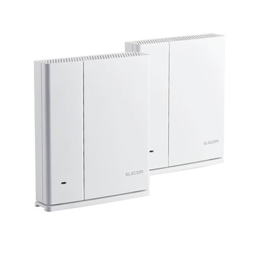 送料無料 エレコム 無線LANルーター親機+中継器セット 売れ筋 11ac.n.a.b.g セットアップ 867+400Mbps ホワイト WMC-DLGST2-W メッシュ 代引不可