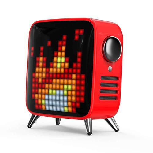 Divoom ディブーム レトロテレビ型本格派Bluetoothスピーカー Tivoo Max-RED TIVOO-MAX_RED(代引不可)