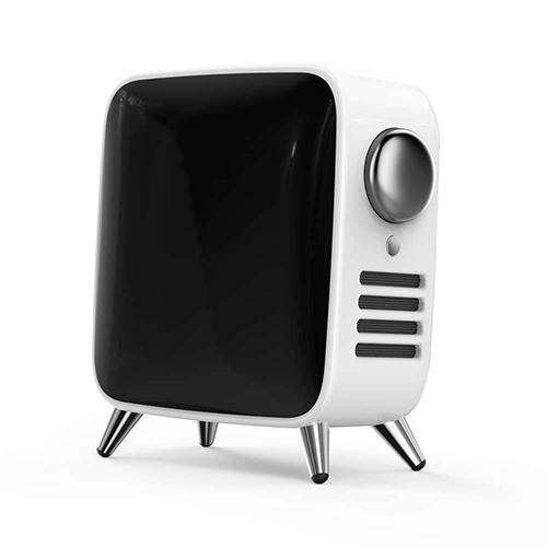Divoom ディブーム レトロテレビ型本格派Bluetoothスピーカー Tivoo Max-WHITE TIVOO-MAX_WHITE(代引不可)