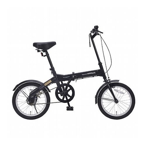 MYPALLAS マイパラス 折畳自転車16インチ ブラック M-100-BK(代引不可)