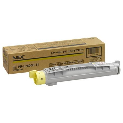 NEC エヌイーシー トナーカートリッジ イエロー PR-L7600C-11 コピー機 印刷 替え カートリッジ ストック トナー(代引不可)