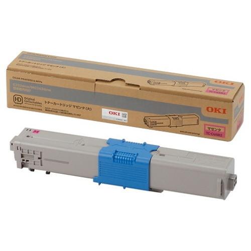 OKI 沖データ OKIデータ トナーカートリッジ マゼンタ (大) TC-C4AM2 コピー機 印刷 替え カートリッジ ストック トナー(代引不可)