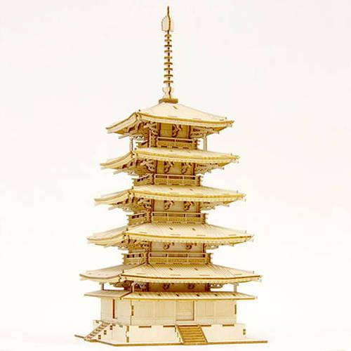 エーゾーン Wooden Art ki-gu-mi 五重塔 KGM10561(代引不可)【送料無料】