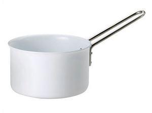 《16cm》【eva-trio】ホワイトライン 片手鍋 【inte_D1806】