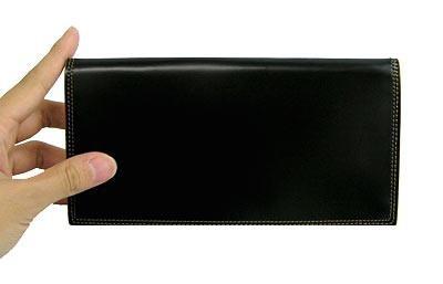 革の宝石コードバン 総マチ付き長財布【送料無料】