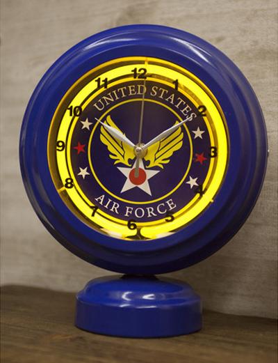 テーブルトップネオンクロック[U.S. Airforce]