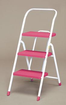アイリスオーヤマ 折りたたみステップ ステップ (ピンク) OSU-3(代引き不可)【送料無料】【int_d11】