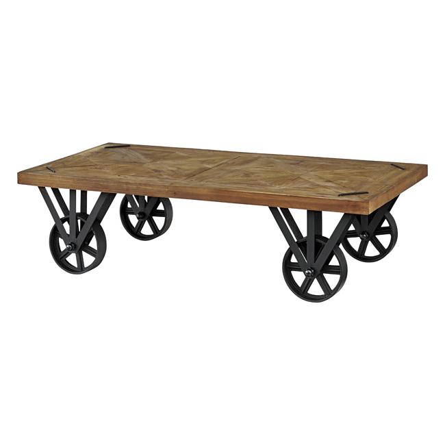 ヒストリア トロリーテーブル 幅120×奥行60×高さ33cm テーブル リビングテーブル カフェテーブル ウッドテーブル 北欧 西海岸(代引不可)【送料無料】