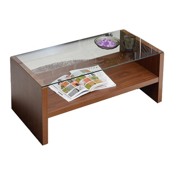 ガラステーブル ローテーブル リビングテーブル センターテーブル ガラス製 おしゃれ カフェ コーヒーテーブル(代引不可)【送料無料】