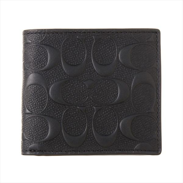 COACH OUTLET コーチ アウトレット F75363 BLK ブラック 二つ折り財布【送料無料】