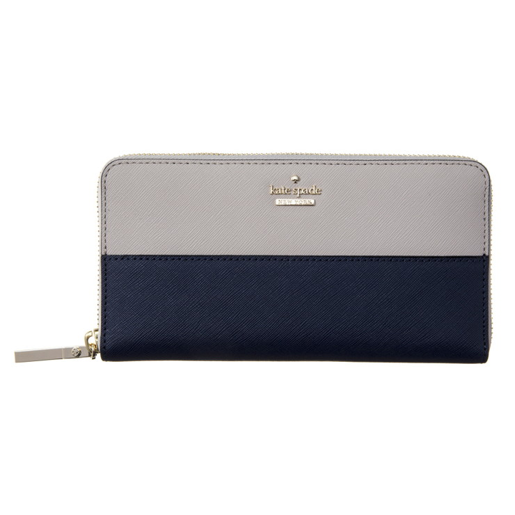KATE SPADE ケイトスペード【PWRU5073 938】GIVERNY BLUE ラウンドファスナー 長財布(代引不可)【送料無料】